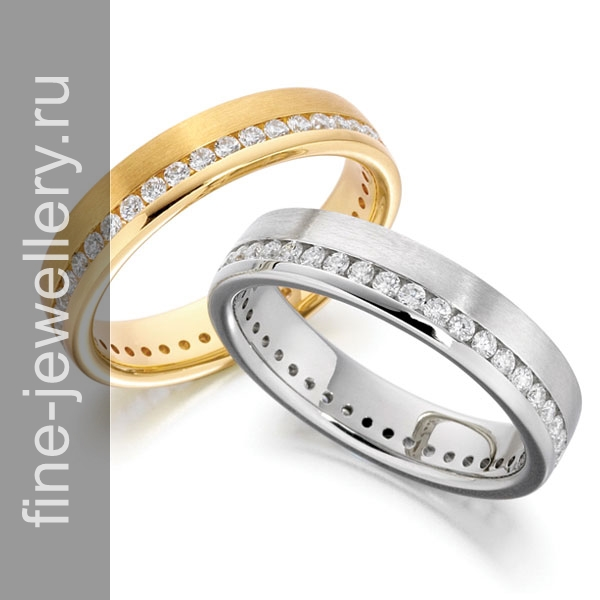 Обручальное кольцо дорожка с бриллиантами