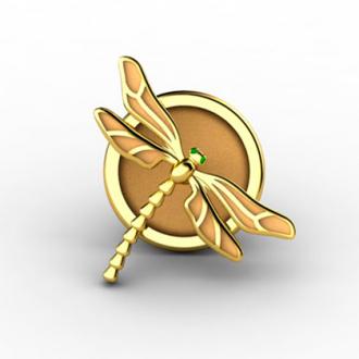 Значки из золота Стрекозы