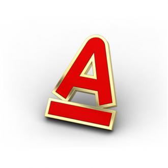 Золотые значки Альфа-Банк