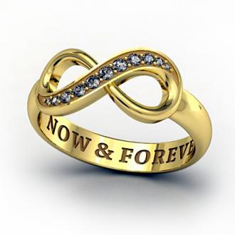 Кольцо Infinity в виде бесконечности с бриллиантами