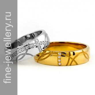 Стильные обручальные кольца с узором