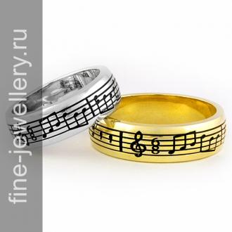 Обручальные кольца ноты на заказ