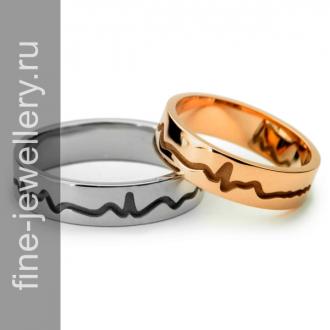 Обручальные кольца с пульсом сердца
