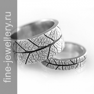 Необычные обручальные кольца из серебра