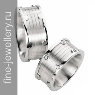Обручальные кольца с техническим орнаментом