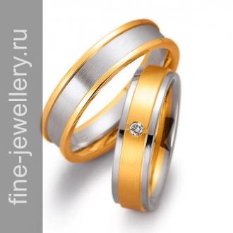 Сведебные обручальные кольца комбинированные