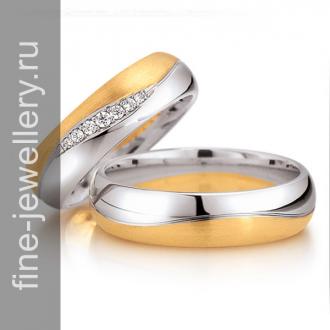 Обручальные кольца двухсплавные желтое и белое золото