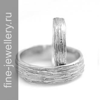 Обручальные кольца «кора дерева»