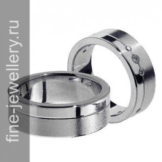 Платиновые обручальные кольца с бриллиантами