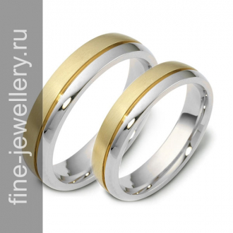 Простые обручальные кольца из золота