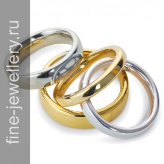 Гладкие обручальные кольца из золота