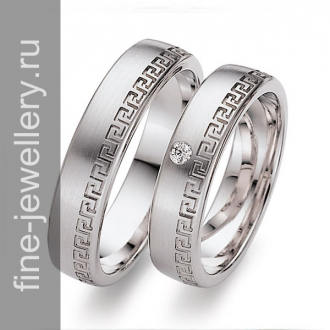 Греческие обручальные кольца с меандром
