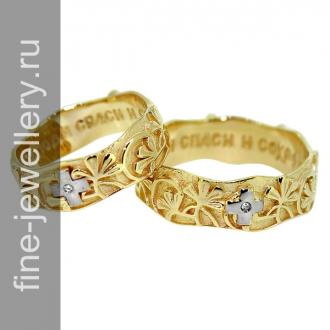 Венчальные обручальные кольца из золота