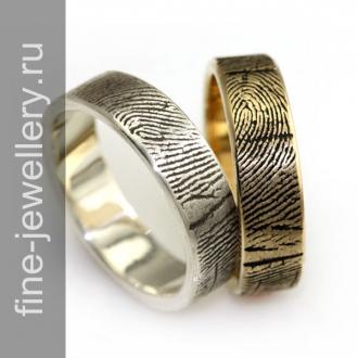Обручальные кольца с отпечатком пальцев