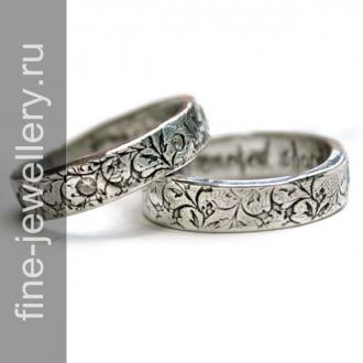 Винтажные обручальные кольца с бриллиантом