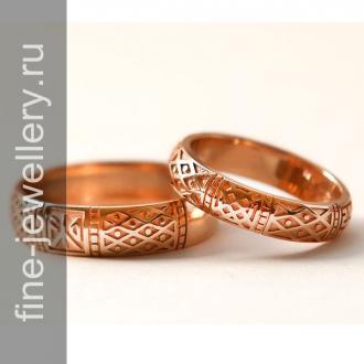 Обручальные кольца со славянской символикой