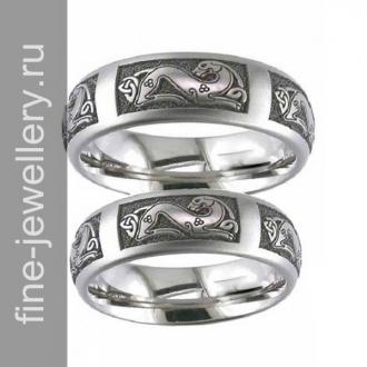 Кельтские обручальные кольца из серебра