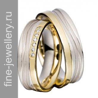 Элитные обручальные кольца с бриллиантами