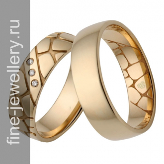 Рельефные обручальные кольца