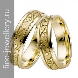 Узорчатые обручальные кольца