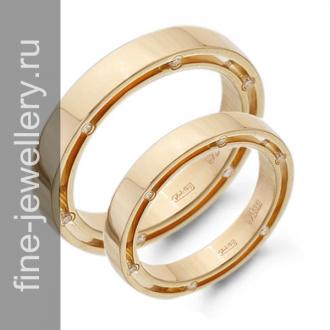 Обручальные кольца с бриллиантами на торце
