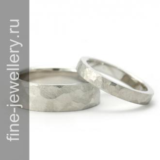 Грубые обручальные кольца из серебра
