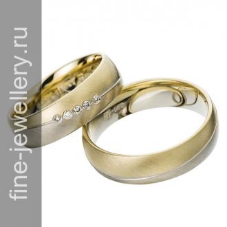 Изящные обручальные кольца из золота