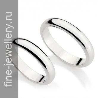 Узкие классические обручальные кольца
