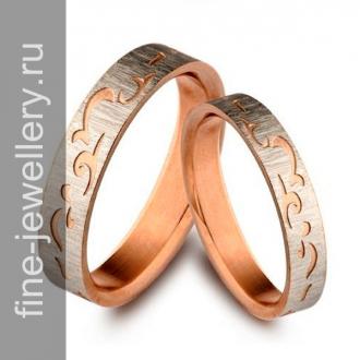 Обручальные кольца с русским узором