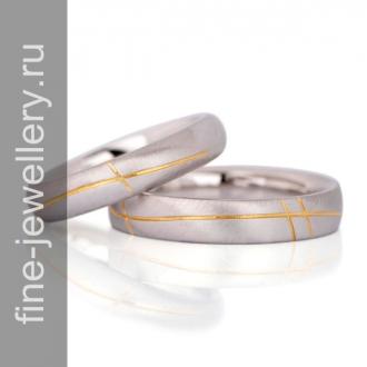 Матовые обручальные кольца линия любви
