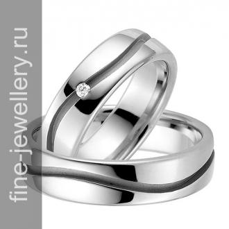 Оригинальные обручальные кольца с бриллиантом