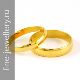 Обручальные кольца классические недорогие из золота