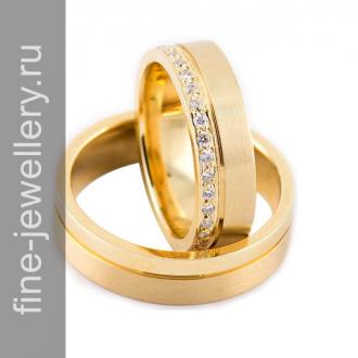 Дорогие обручальные кольца с бриллиантами