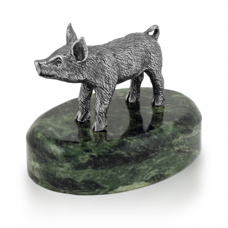 Свинка из серебра 925 пробы — Новогодний сувенир 2019