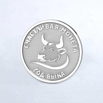 Cеребряная монета год быка 2021